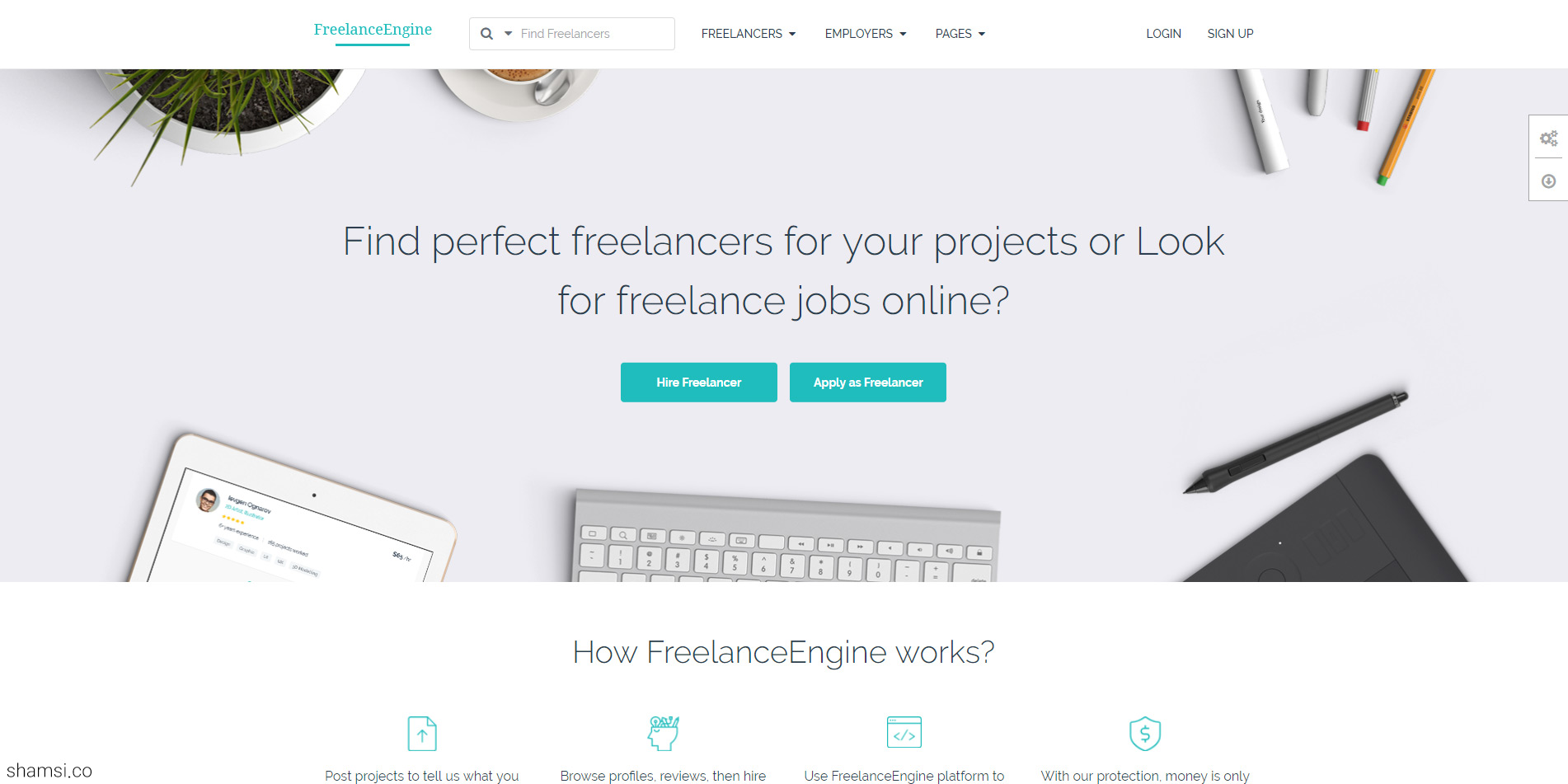 قالب FreelanceEngine فریلنس انجین